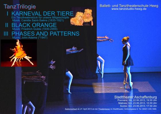 2013 TanzTrilogie Plakat Tanztheater HEEG