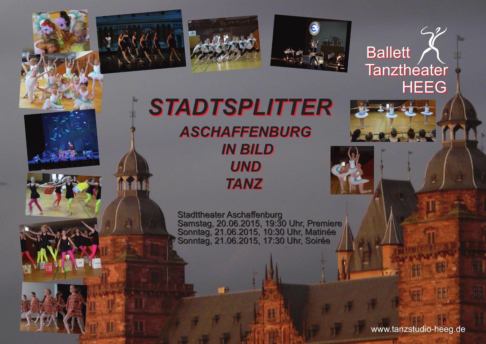 Poster STADTSPLITTER Schloss Aschaffenburg